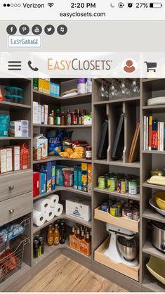 Kitchen Pantry Design, Kitchen Storage, Kitchen Decor, Sage Kitchen, Kitchen Ideas, Kitchen Corner, Storage Room, Mens Kitchen, Kitchen Themes
