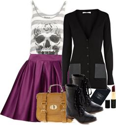 """""""Wardrobe planner. The cute skull"""" by cerezadecristal on Polyvore"""