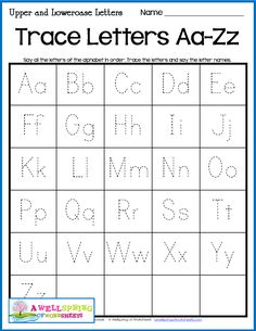 Letter Tracing Worksheets - Uppercase and Lowercase Letters A set of 30 worksheets and 4 alphabet charts. Great for assessments, centers and more! Alphabet Writing Practice, Writing Practice Worksheets, Alphabet Tracing Worksheets, Printable Preschool Worksheets, Learning Letters, Alphabet Charts, Tracing Letters, Printable Worksheets, English Worksheets For Kindergarten