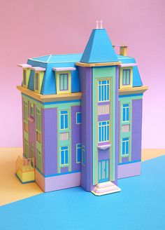 """visualgraphc: """" The Mansion: Papercraft project by french duo Zim & Zou """" Origami, Cuento Pop Up, 3d Templates, Whatsapp Wallpaper, Paper Illustration, Up Book, Paper Artwork, Art Original, Paper Houses"""