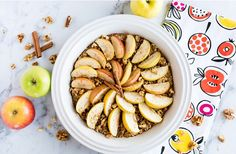Apple Walnut Baked Oatmeal #Food #Drink #Musely #Tip