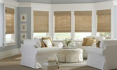Beautiful Bamboo Roman Shades For French Doors Home Depot