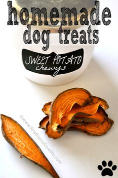 Homemade Sweet Potato Dog Treats | First Home Love Life #pets #recipes