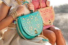 Alilovesyou Bags : damask is the trend with contrast colors + camel