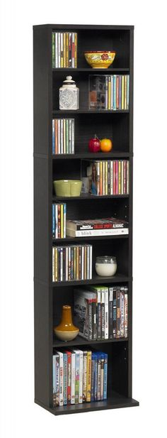 Multimedia Storage Tower Cabinet Wall Rack CD DVD Shelves Organizer Media Shelf…