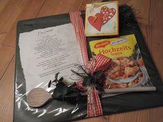 """Weiteres - (Geld) Geschenk """"Eherezept"""" mit Hochzeitssuppe - ein Designerstück von Affelner-Geschenke-Stuebchen bei DaWanda"""
