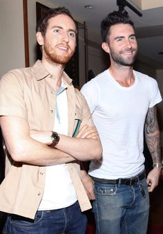 Photo de Jesse Carmichael  & son ami Adam Levine