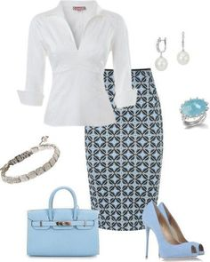 Summer Work Outfit on Polyvore #workwomen'sclothescareer