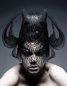 3D printed millinery in black   3D Print : Fashion + Photography ...