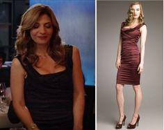 Chocolate dress worn to dinner   Dolce e Gabbana