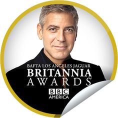 Steffie Doll's The BAFTA LA Jaguar Britannia Awards 2013: George Clooney Sticker | GetGlue
