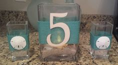 Hey, I found this really awesome Etsy listing at https://www.etsy.com/listing/181391330/wedding-table-number-decor-set-candle