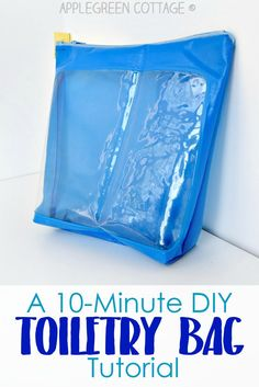 10-Minute DIY Toiletry Bag Tutorial   Make this quick and easy sewing project in just 10 minutes!