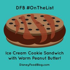 #OnTheList: Ice Cream Cookie Sandwich WITH PEANUT BUTTER (!!!) at Magic Kingdom's Plaza Ice Cream Parlor | the disney food blog