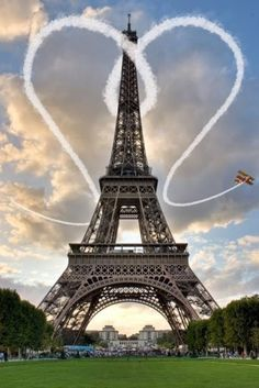 I Love Paris, Eiffel Tower, Paris, France