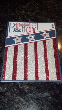 4th of July b-day card
