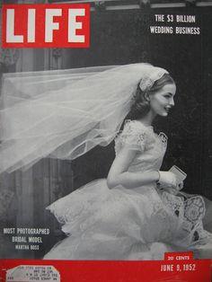 1952 - Life - most photographed bridal model - Martha Boss