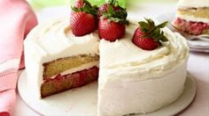 Get this all-star, easy-to-follow Strawberry Shortcake Cake recipe from Ree Drummond