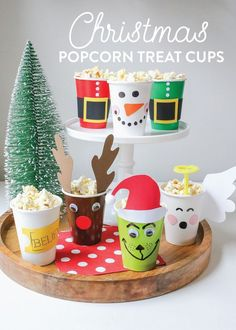 Christmas Popcorn Treat Cups