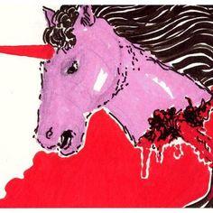 #art #artist #instaart #instaartist #artsanity #arthabit #sketch #dan_ene #alsace #strasbourg #dailysketch #dailypic #dailyart #dailydrawing #drawing #illustration #doodle #lineart #markers #weird #spooky #instadaily #blood #gore #unicorn #posca #pink #red