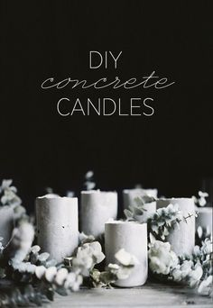 DIY Concrete Candles ( I think these would be wonderful for citronella poolside candles) ...