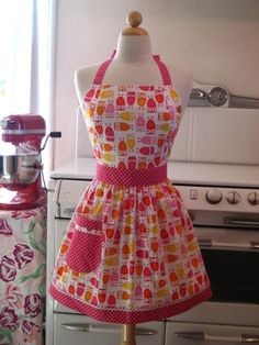 owl apron ♥. So cute!