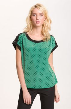 Pleione 'Dot' Print Blouse available at Nordstrom