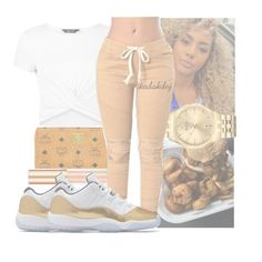 """"""""""" by kodakdej ❤ liked on Polyvore featuring MCM, New Look, Elizabeth Arden and Bulova"""