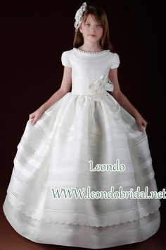7f0c2f77172 2015 first communion dresses with organza short sleeve ball gowns  Floor-Length flower girl dresses long white