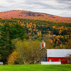 One of my favorite things about Vermont, besides the fall foliage, is how small it is.  It is incredibly easy for visitors to see as much, or as little, of this glorious state as they want.   The back roads of Vermont hold some of America's most beautiful scenes.  Huge red barns, horse farms, sloping hills, country stores, and of course the colorful fall foliage.  So here is a list of the 5 best scenic drives in Vermont for all the leaf peepers! New England Fall Foliage, Visit Maine, Boston Travel, Us Travel, Travel Tips, New England Travel, Travel Photographer, Vermont, Autumn