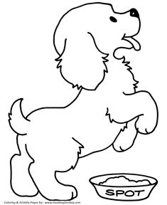 Cute Puppy   Pet Dog Coloring Page