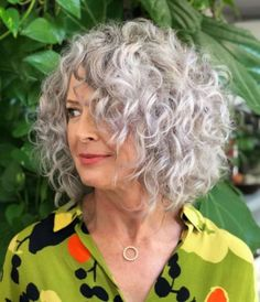 50 Gorgeous Perms Looks: Say Hello to Your Future Curls! - 50 Gorgeous Perms Looks: Say Hello to Your Future Curls! Gray Perm Lob With Loose Curls Grey Curly Hair, Short Grey Hair, Curly Hair Cuts, Short Hair Cuts, Curly Hair Styles, Lilac Hair, Emo Hair, Pastel Hair, Blue Hair