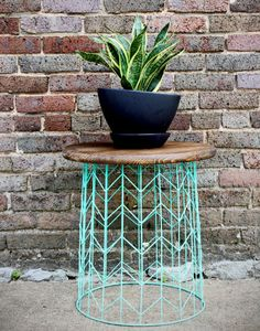 Turn it upside-down, add some paint and a stained wood top, and you've got a modern side table.  Source: Shabby Creek Cottage