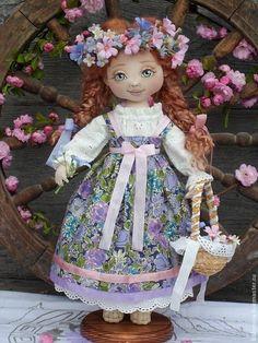 Купить Настёнка - сиреневый, авторская ручная работа, кукла ручной работы, кукла в подарок