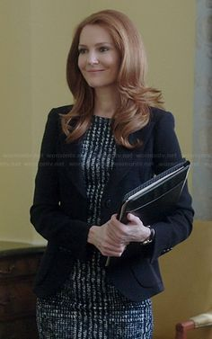 Abby's checked dress on Scandal.  Outfit Details: http://wornontv.net/38116/ #Scandal