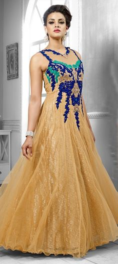 GOLDEN #WeddingGown - Like it? shop at flat 15% off. #Wedding #Bride #Embroidery #Gown #Onlineshopping