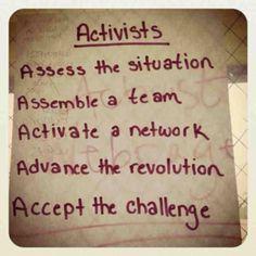Activists...