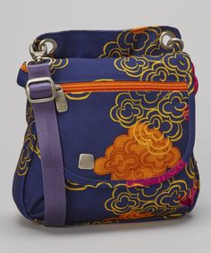 haiku Indigo & Tangerine Clouds Crossbody Grab Bag