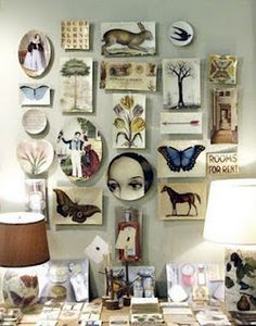 Love this collage of wall art!