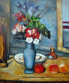 Paul Cezanne - Le vase bleu