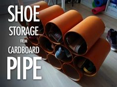 Picture of Shoe Storage Made from Cardboard Pipe