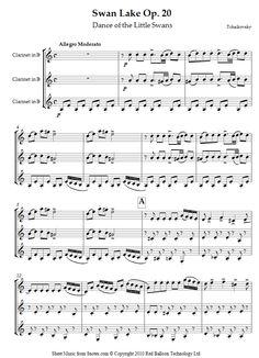 Tchaikovsky, Pyotr Ilyich - Dance of the Little Swans from Swan Lake Op. 20 sheet music - 8notes.com MOET DIT DOEN!!