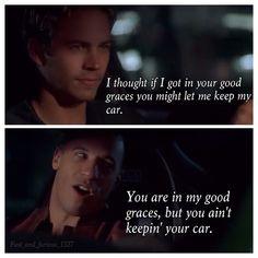 Dominic Toretto & Brian O'Connor (Vin Diesel & Paul Walker)