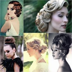 Bridal Hair - 25 Wedding Upstyles & Updo's - Some pretty inspiration for an upstyle Bridal Braids, Bridal Hair Updo, Wedding Hair And Makeup, Wedding Beauty, Hair Makeup, Makeup Art, Vintage Hairstyles, Up Hairstyles, Wedding Hairstyles