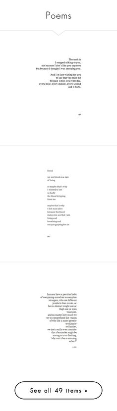 """""""Poems"""" by lex-is-a-shooting-star ❤ liked on Polyvore featuring words, quotes, text, fillers, poems, phrase, saying, doodles, scribble and doodle"""