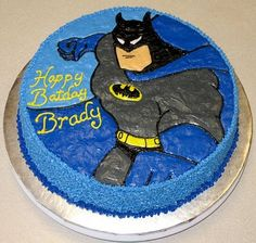 How to Make a Batman cake http://sliceoffun.blogspot.com/2010/12/holy-chocolate-cake-batman.html