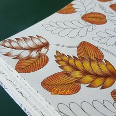 The start of something new Coloring Tips, Leaf Coloring, Adult Coloring Pages, Coloring Books, Colored Pencil Tutorial, Colored Pencil Techniques, Johanna Basford Coloring Book, Copics, Prismacolor
