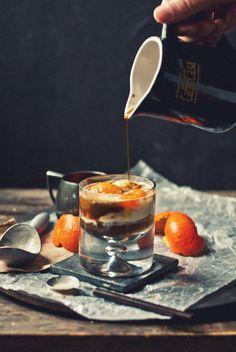 // Bourbon-Soaked Mandarin & Vanilla Affogato | The Gouda Life