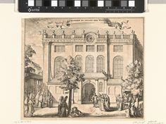 Portugese Synagoge, Voorhof en Ingang der Vrouwen Romeyn de Hooghe, 1675-1700.
