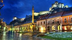 Trencin castle from   main square